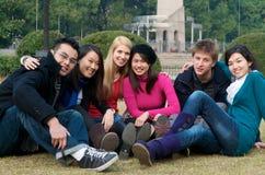 Studenti di college Immagini Stock