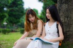 Studenti di college asiatici Immagine Stock Libera da Diritti
