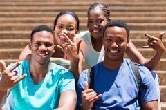 Studenti di college del gruppo Fotografie Stock