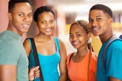 Studenti di college dell'Africano del gruppo Fotografie Stock Libere da Diritti