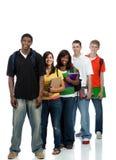 Studenti di college multiculturali fotografia stock libera da diritti