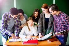 Studenti di college su una conferenza Immagini Stock Libere da Diritti