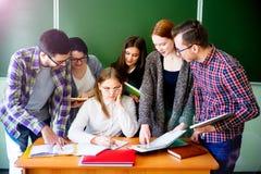 Studenti di college su una conferenza Immagine Stock