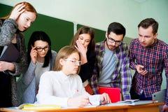 Studenti di college su una conferenza Fotografia Stock