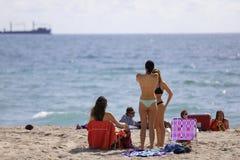 Studenti di college sulla rottura di primavera della spiaggia del Fort Lauderdale 2017 Immagine Stock Libera da Diritti