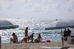 Studenti di college sulla rottura di primavera della spiaggia del Fort Lauderdale 2017 Immagini Stock