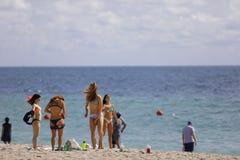 Studenti di college sulla rottura di primavera della spiaggia del Fort Lauderdale 2017 Fotografia Stock