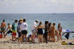 Studenti di college sulla rottura di primavera della spiaggia del Fort Lauderdale 2017 Immagini Stock Libere da Diritti