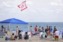 Studenti di college sulla rottura di primavera della spiaggia del Fort Lauderdale 2017 Fotografie Stock Libere da Diritti