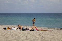 Studenti di college sulla rottura di primavera della spiaggia del Fort Lauderdale 2017 Fotografia Stock Libera da Diritti