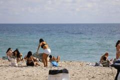 Studenti di college sulla rottura di primavera della spiaggia del Fort Lauderdale 2017 Immagine Stock