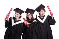 Studenti di laureati felici Fotografia Stock