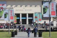 Studenti ed insegnanti fuori del museo Fotografia Stock