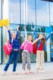 Studenti emozionanti Fotografia Stock