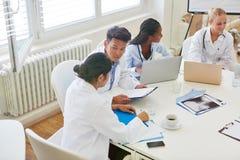 Studenti a facoltà di medicina che imparano insieme Fotografia Stock