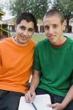 Studenti maschii della High School che studiano insieme Fotografia Stock Libera da Diritti