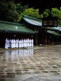 Studenti @ Meiji Shrine, Tokyo, Giappone Fotografia Stock