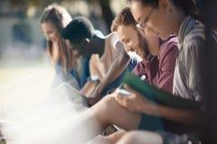 Studenti multiculturali che studiano insieme Immagine Stock