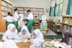 Studenti musulmani Fotografie Stock