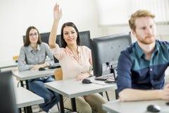Studenti nell'aula Immagine Stock Libera da Diritti