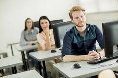Studenti nell'aula Immagine Stock