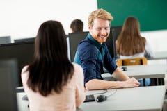 Studenti nell'aula Fotografia Stock Libera da Diritti