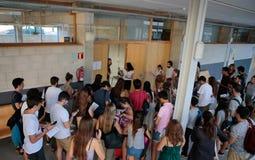 Studenti prima del loro esame finale di estate Immagine Stock Libera da Diritti