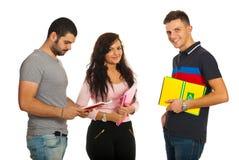 Studenti sorridenti Fotografia Stock