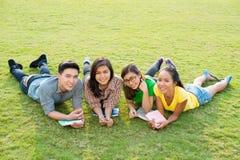 Studenti spensierati Fotografie Stock