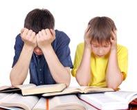 Studenti stanchi Fotografia Stock