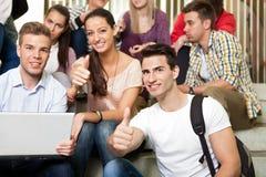 Studenti sulla rottura Fotografia Stock