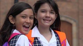 Studenti svegli felici Fotografia Stock Libera da Diritti
