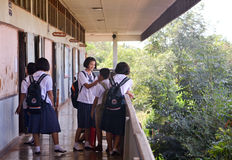 Studenti tailandesi 2 Immagine Stock Libera da Diritti