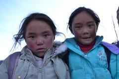 Studenti tibetani Fotografie Stock