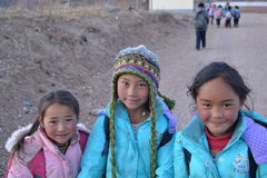 Studenti tibetani Immagine Stock Libera da Diritti