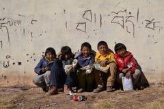 Studenti tibetani Immagini Stock