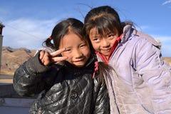 Studenti tibetani Fotografia Stock