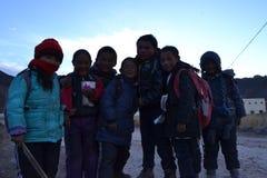 Studenti tibetani Fotografia Stock Libera da Diritti