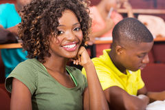 Studenti universitari africani Fotografie Stock