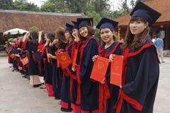 Studenti vietnamiti in vestito Fotografia Stock