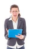 Studentin gesorgt um Prüfungen lizenzfreie stockbilder