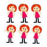 Studentin im roten Kleid Stockfotos
