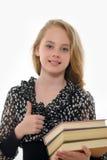 Studentin mit Büchern Lizenzfreies Stockfoto