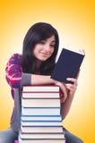 Studentin mit Büchern Stockbild