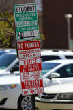 Studentparkering Arkivbild