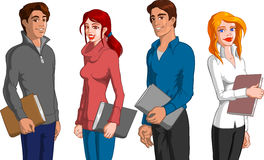 Students. Vector illustration of some young students Stock Photo