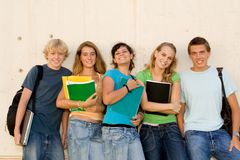 Students. Group of happy smiling teenage students Stock Images