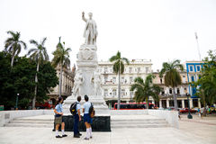 Students admiring Jose Marti, Havana, Cuba Royalty Free Stock Photography
