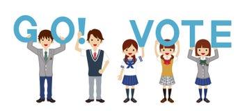 Students appeal Voting - Alphabet Stock Photo