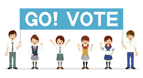 Students appeal Voting - Banner Stock Images